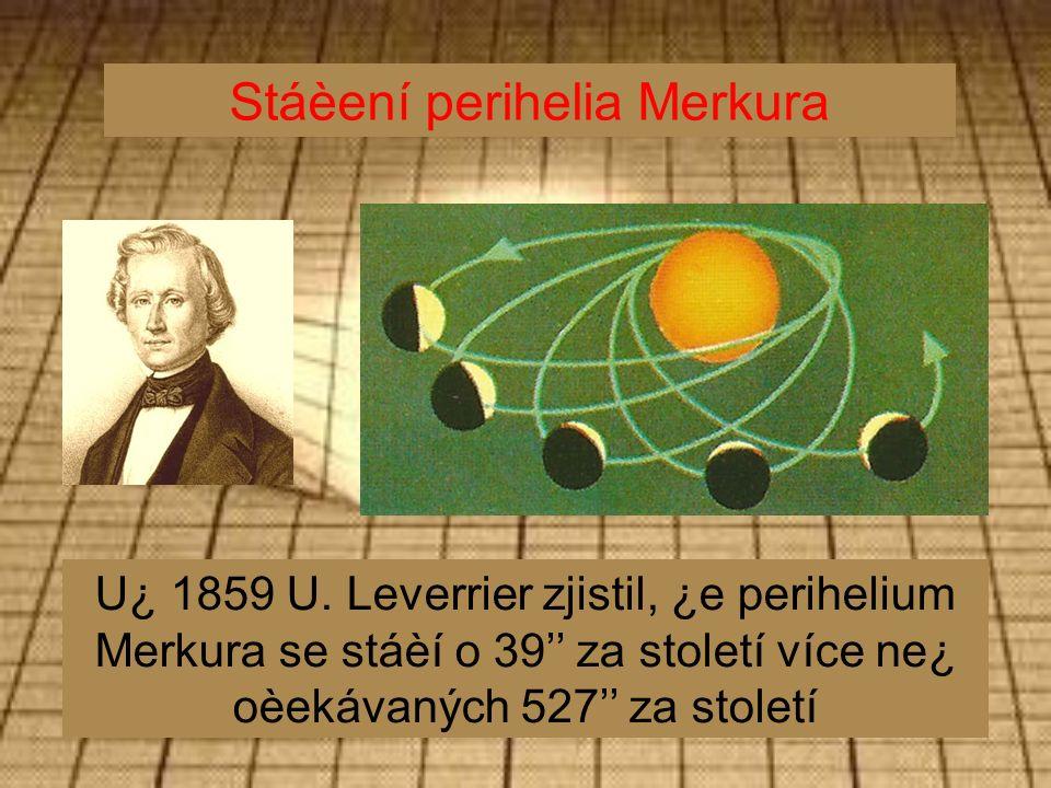 Stáèení perihelia Merkura U¿ 1859 U.