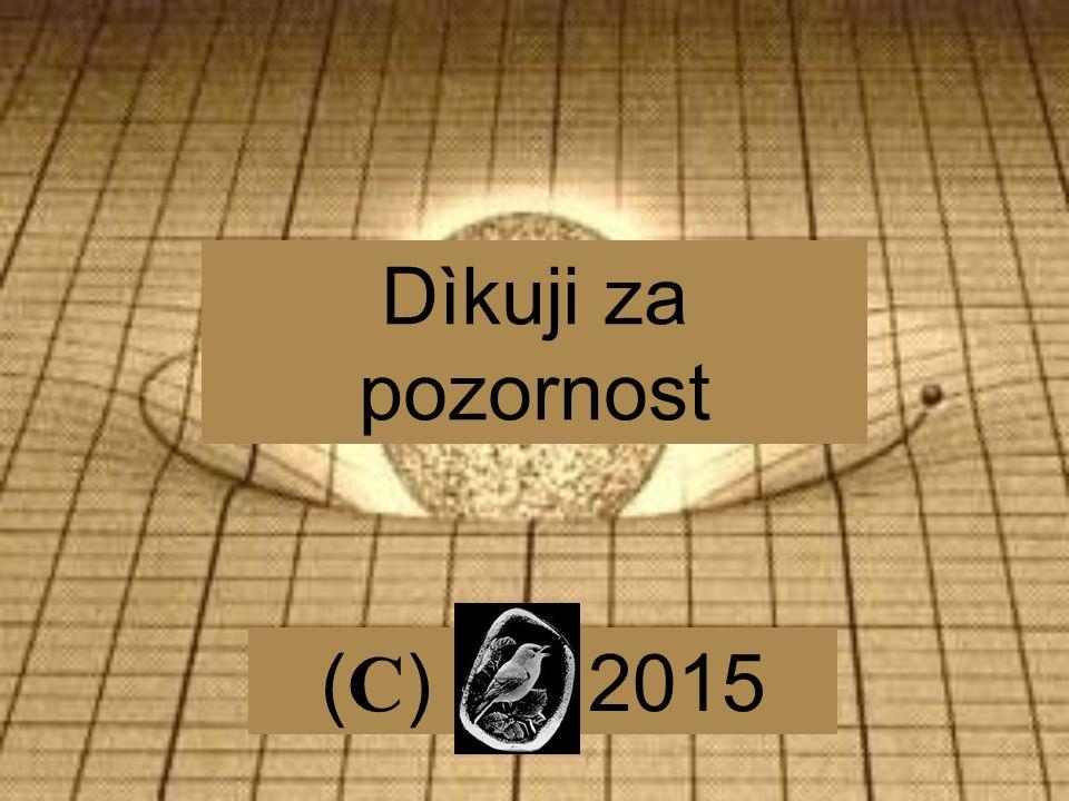 Dìkuji za pozornost ( C ) 2015