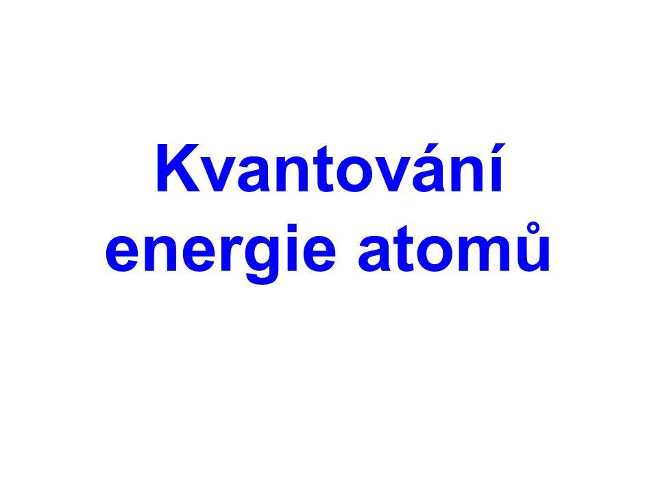 Kvantování energie atomů lze názorně sledovat na čárových spektrech plynů.
