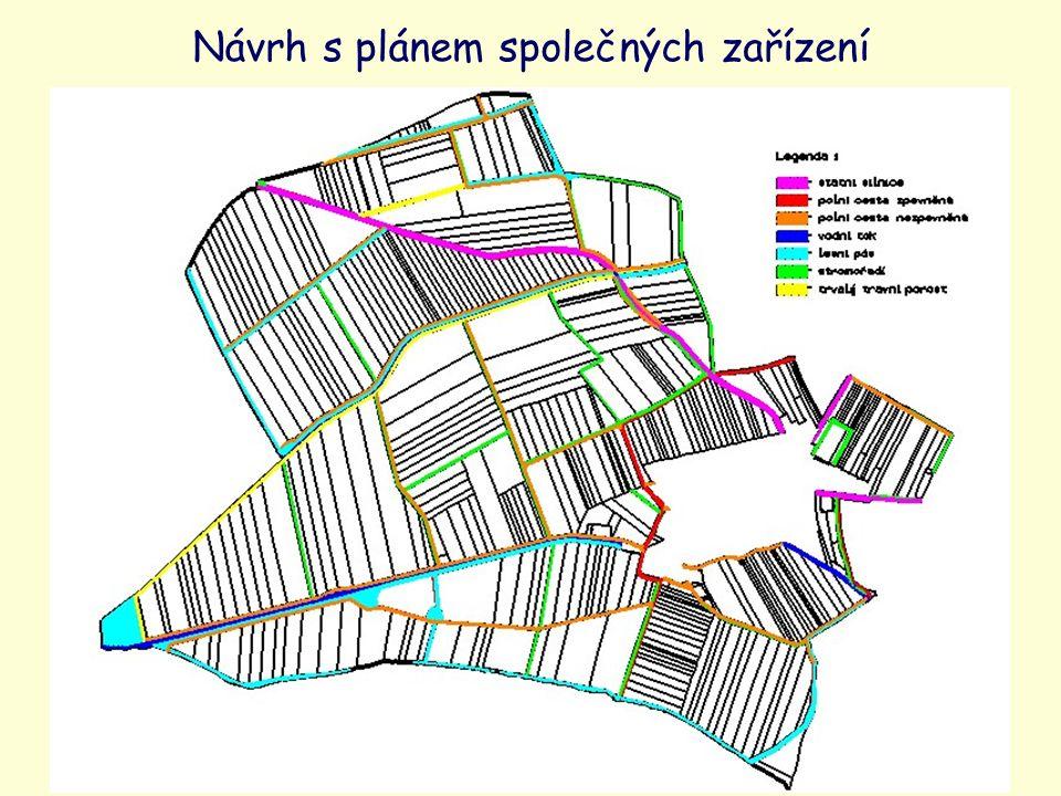 Návrh s plánem společných zařízení