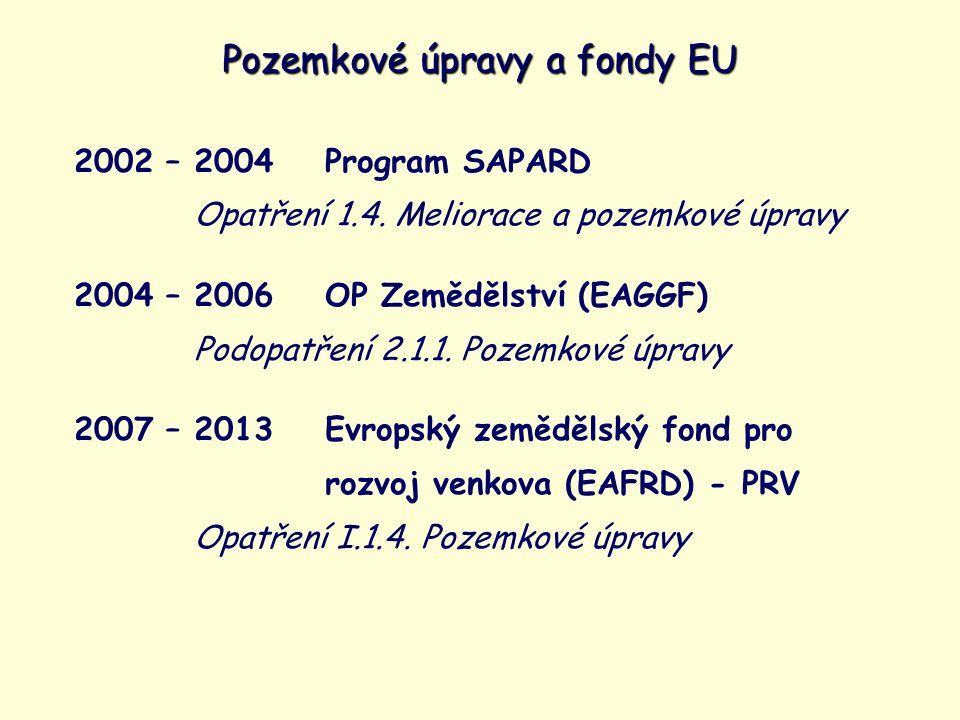 2002 – 2004Program SAPARD Opatření 1.4.