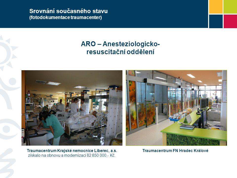 Srovnání současného stavu (fotodokumentace traumacenter) ARO – Anesteziologicko- resuscitační oddělení Traumacentrum Krajské nemocnice Liberec, a.s.