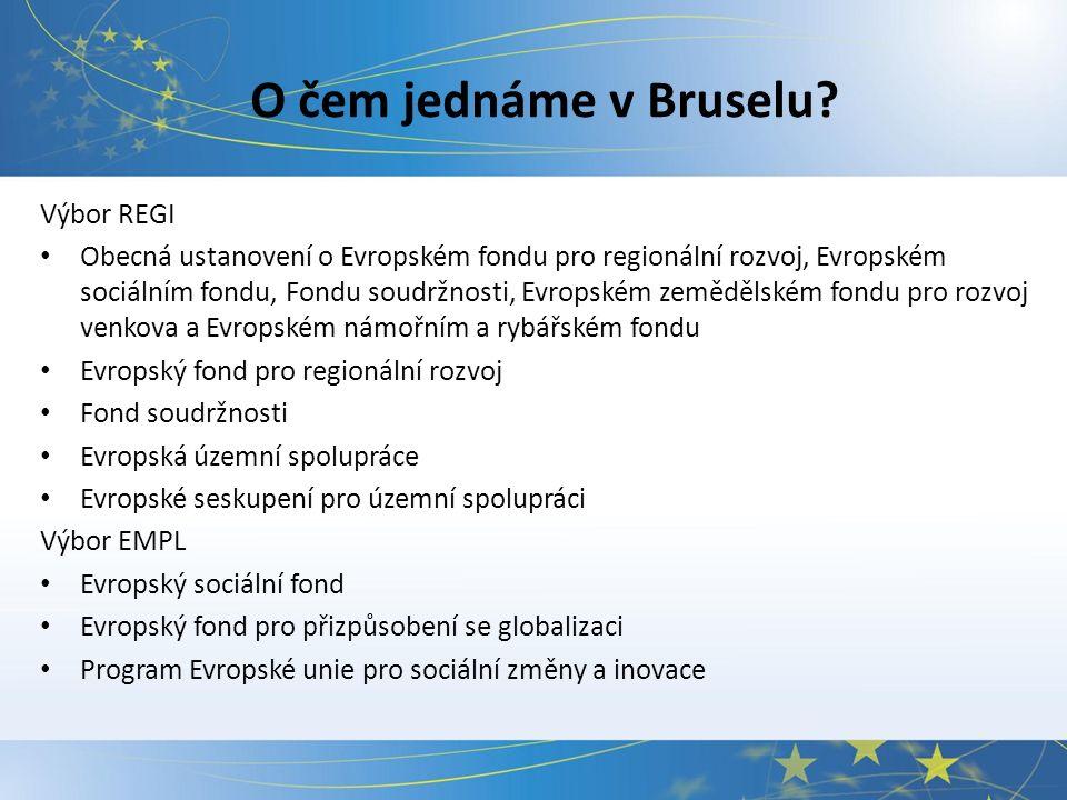 O čem jednáme v Bruselu.