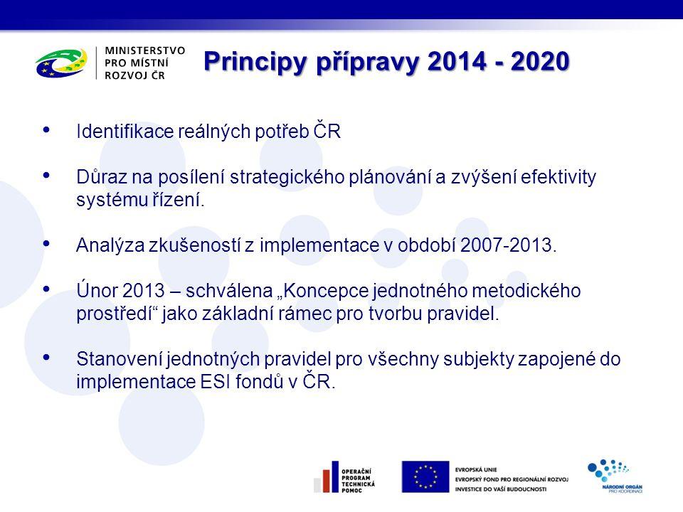 Identifikace reálných potřeb ČR Důraz na posílení strategického plánování a zvýšení efektivity systému řízení.