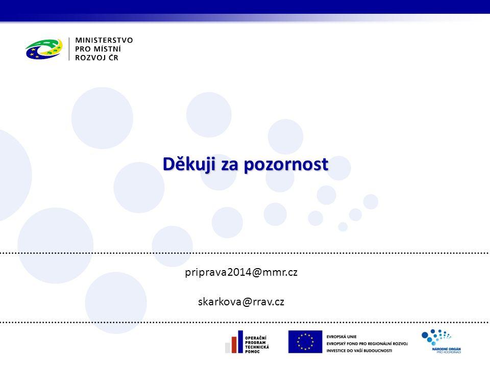 Děkuji za pozornost priprava2014@mmr.cz skarkova@rrav.cz