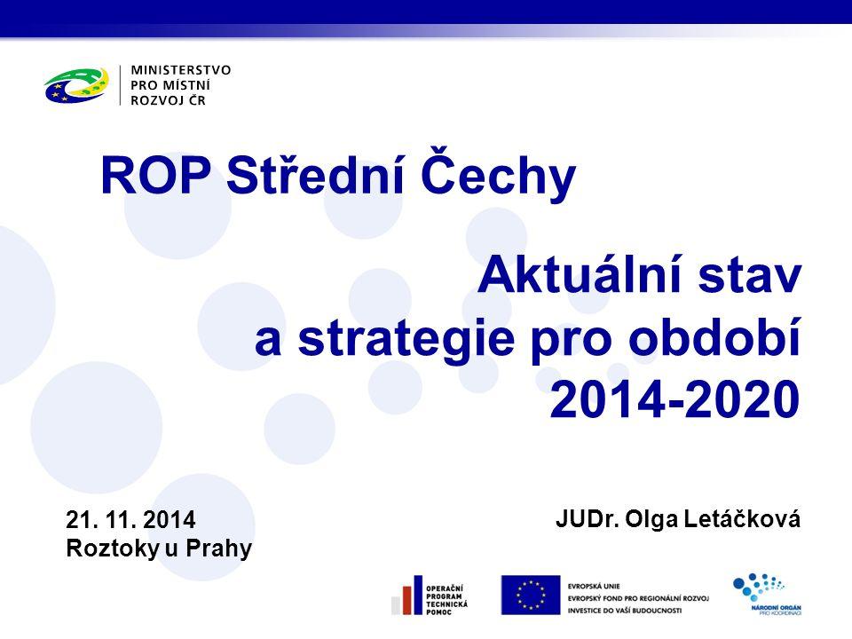 Obsah Aktuální stav Programové období 2007-2013 Strategie Programové období 2014-2020