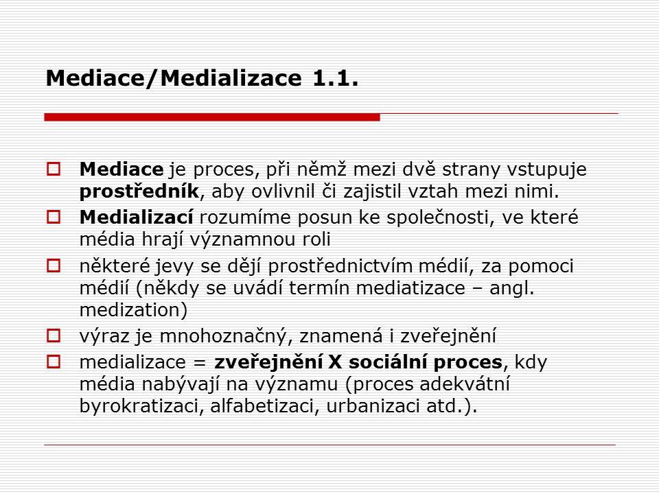 Mediace/Medializace 1.1.