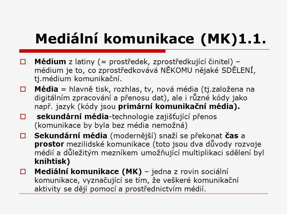 Mediální komunikace (MK)1.1.