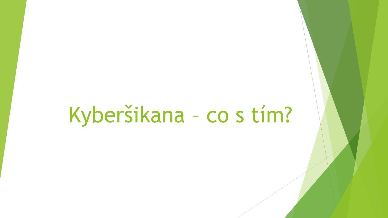 Kyberšikana – co s tím