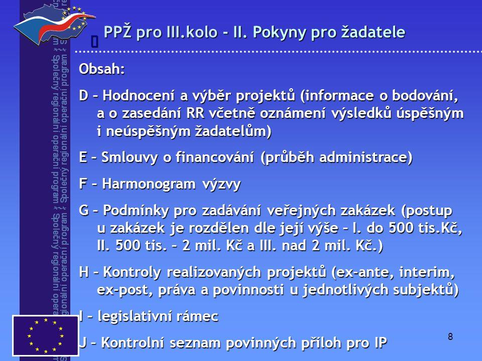 9 PPŽ pro III.kolo - III.