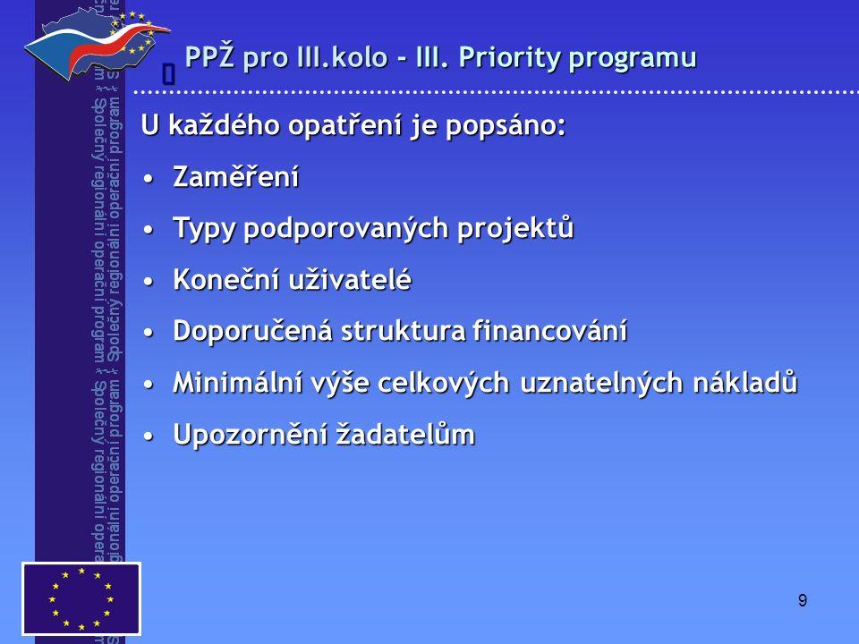 10 Upřesnění PPŽ pro 2.kolo výzvy  Nová pracovní místa, která vzniknou v přímé souvislosti s realizací projektu, budou uznatelné jak u žadatele, tak i u jeho partnerů i u provozovatele – udržitelnost 5 let od podpisu smlouvy u ERDF (3 u ESF).