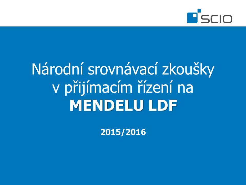 MENDELU LDF Národní srovnávací zkoušky v přijímacím řízení na MENDELU LDF 2015/2016