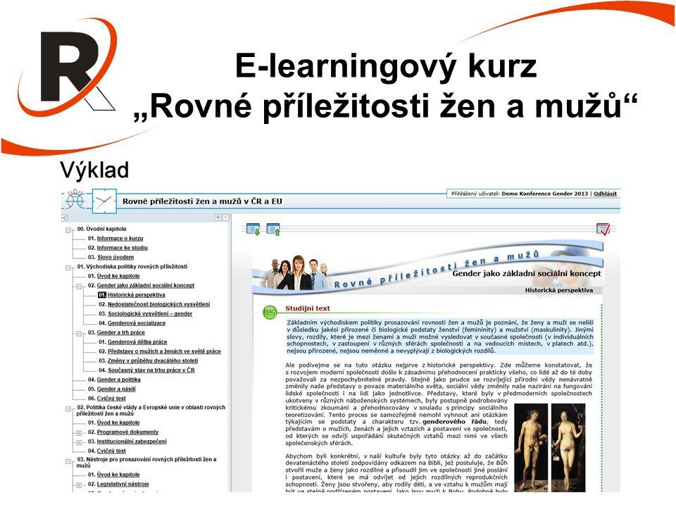 """E-learningový kurz """"Rovné příležitosti žen a mužů Výklad"""