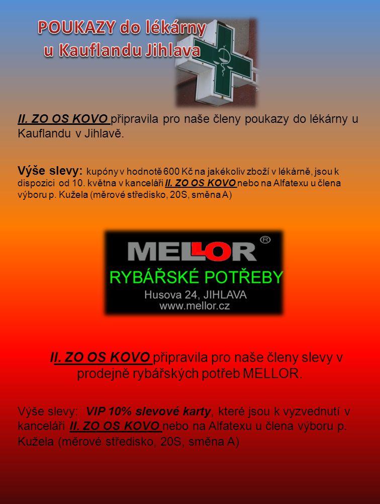 II.ZO OS KOVO připravila pro naše členy slevové poukazy do prodejny oblečení pro volný čas MELLOR.