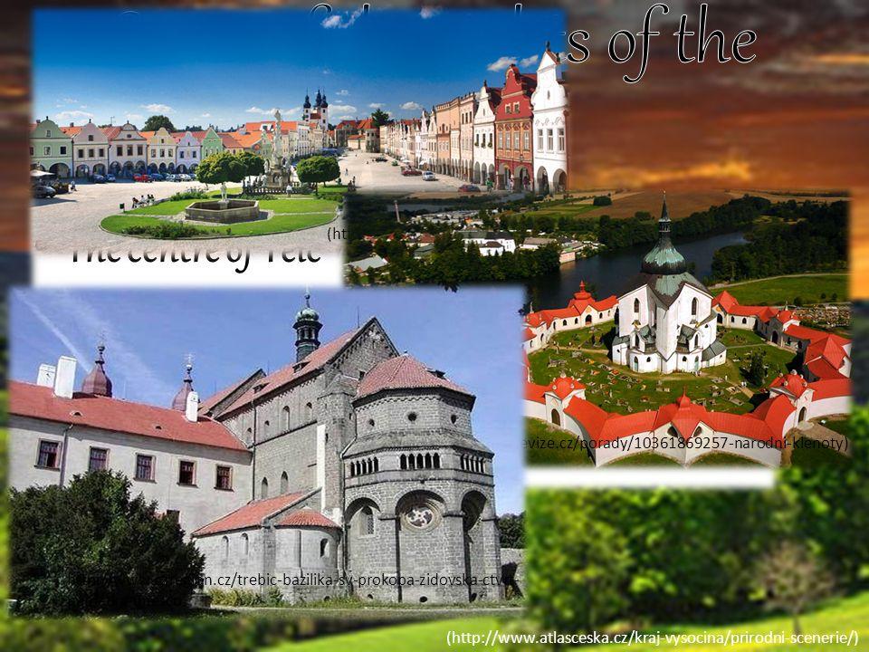 (http://www.atlasceska.cz/kraj-vysocina/prirodni-scenerie/) Castle in Jaroměřice nad Rokytnou http://www.jandova-chalupa.cz/zamek-jaromerice Castle in Lipnice nad Sázavou http://www.kalendarakci.atlasceska.cz/netopyri-noc-hrad- lipnice-nad-sazavou-37565/ Castle in Námět nad Oslavou http://cestujemeceskem.cz/2015/03/26/zamek-namest- nad-oslavou-s-cennou-sbirkou-gobelinu/ Castle Rock http://www.vyletnik.cz/hrady-a-zamky/ceskomoravska- vrchovina/pelhrimovsko/5750-kamen/