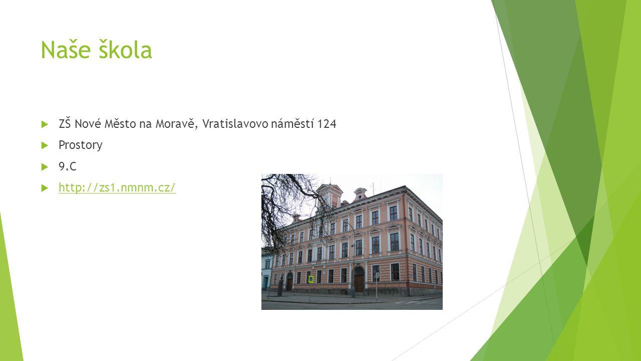 Naše škola  ZŠ Nové Město na Moravě, Vratislavovo náměstí 124  Prostory  9.C  http://zs1.nmnm.cz/ http://zs1.nmnm.cz/
