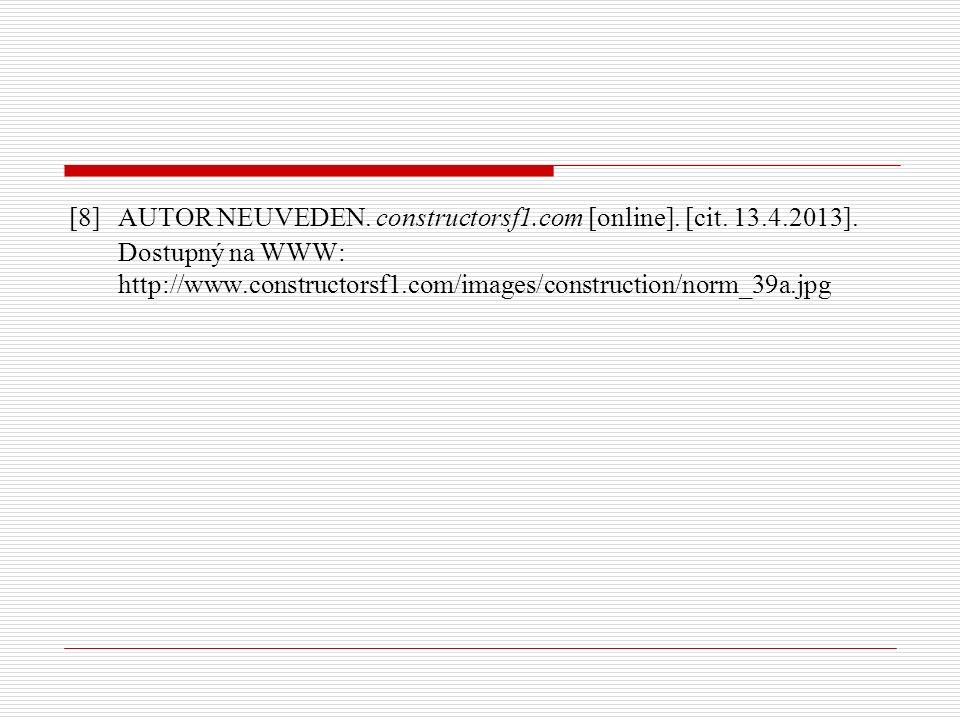 [8] AUTOR NEUVEDEN. constructorsf1.com [online]. [cit.