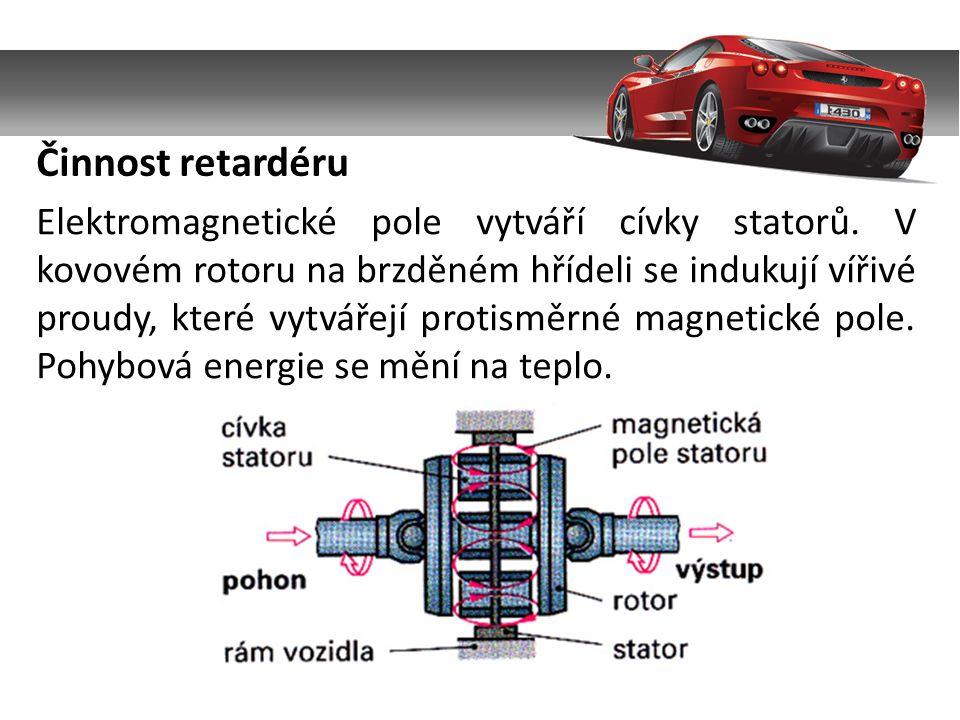 Elektromagnetické pole vytváří cívky statorů.