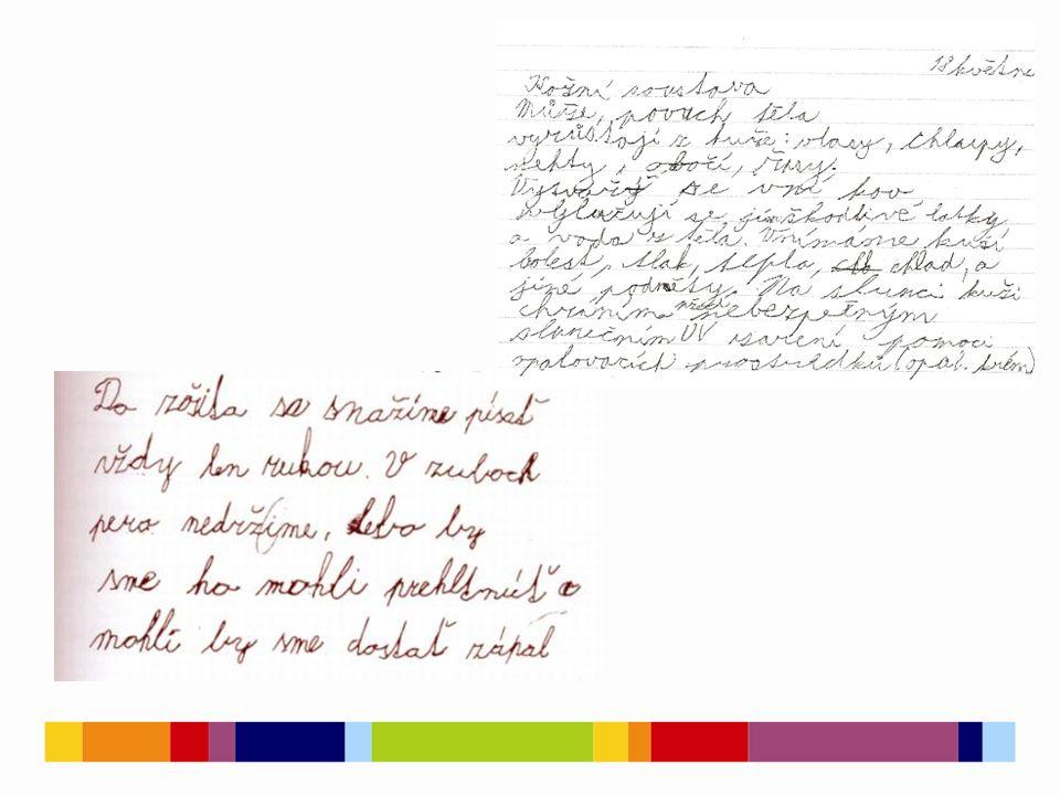 Písemný projev  obsahuje mnohotvárné a mnohočetné chyby, které nemůžeme vysvětlit neznalostí gramatických pravidel.