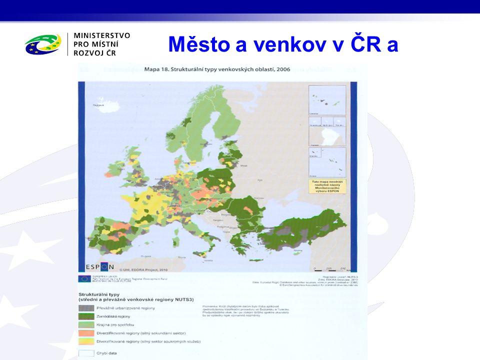 Město a venkov v ČR a