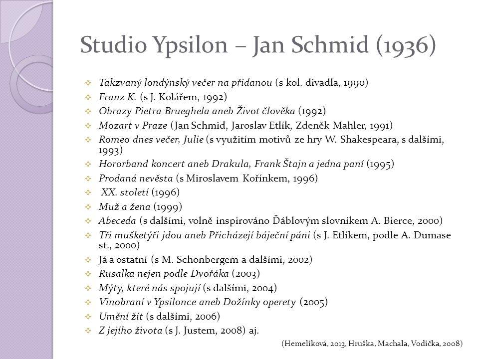 Studio Ypsilon – Jan Schmid (1936)  Takzvaný londýnský večer na přidanou (s kol.
