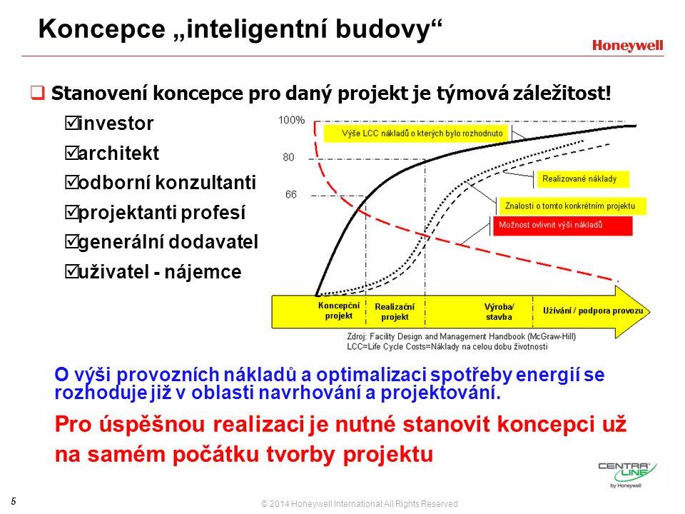 """5 © 2014 Honeywell International All Rights Reserved Koncepce """"inteligentní budovy  Stanovení koncepce pro daný projekt je týmová záležitost."""