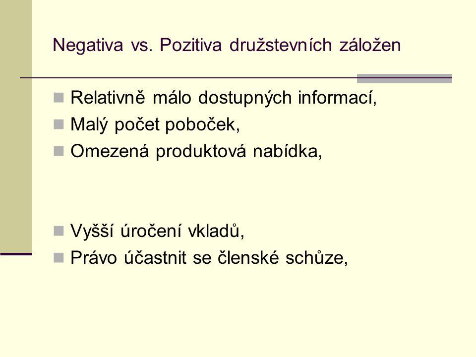 Negativa vs.
