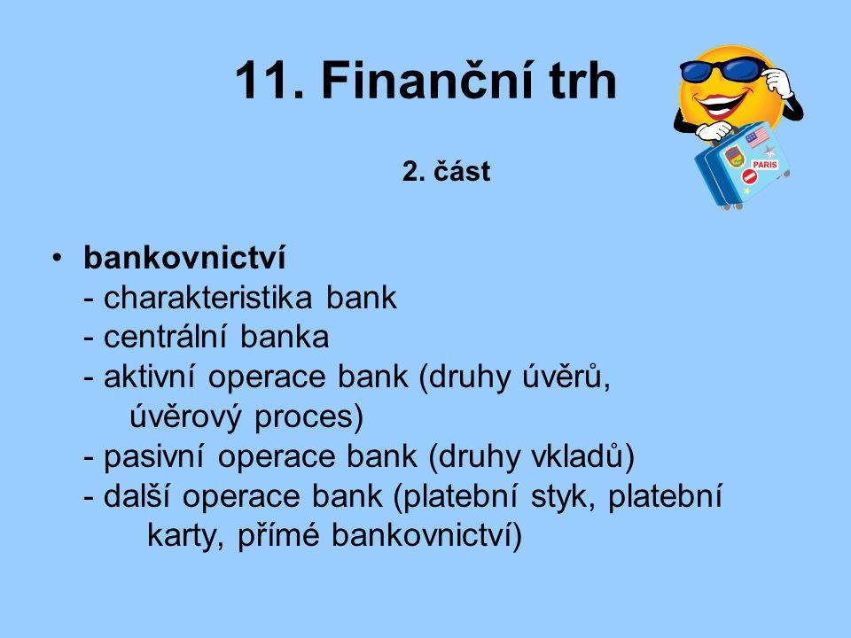 11. Finanční trh 2.