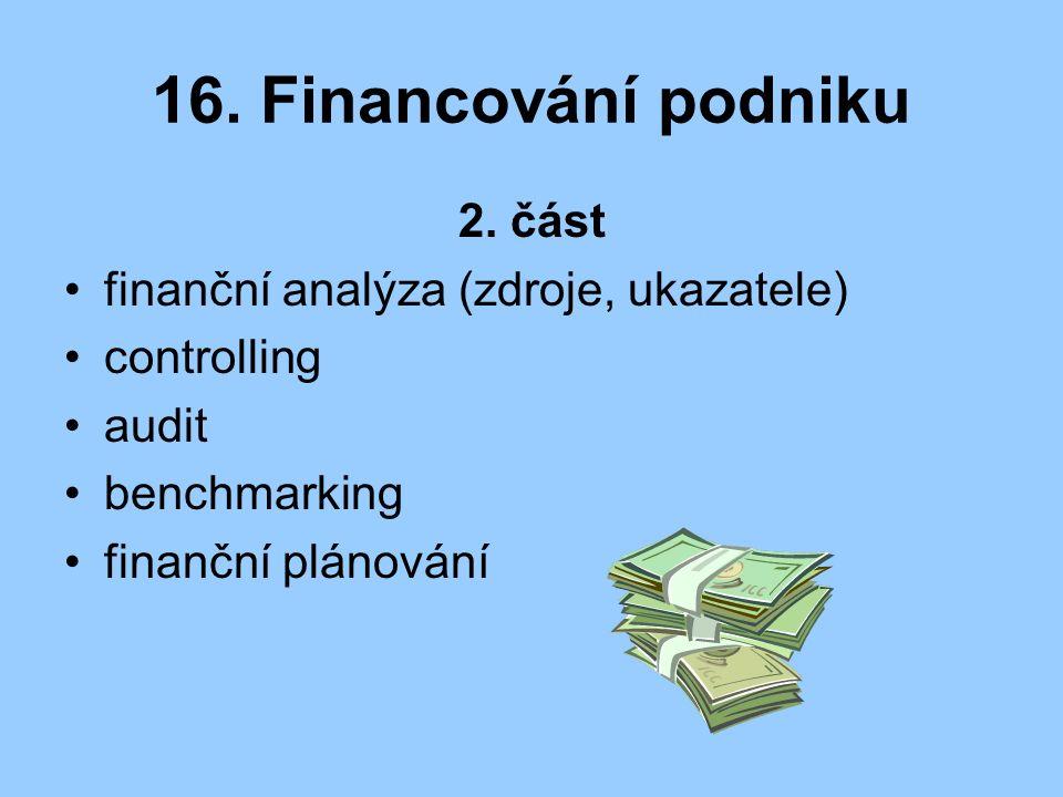 16. Financování podniku 2.