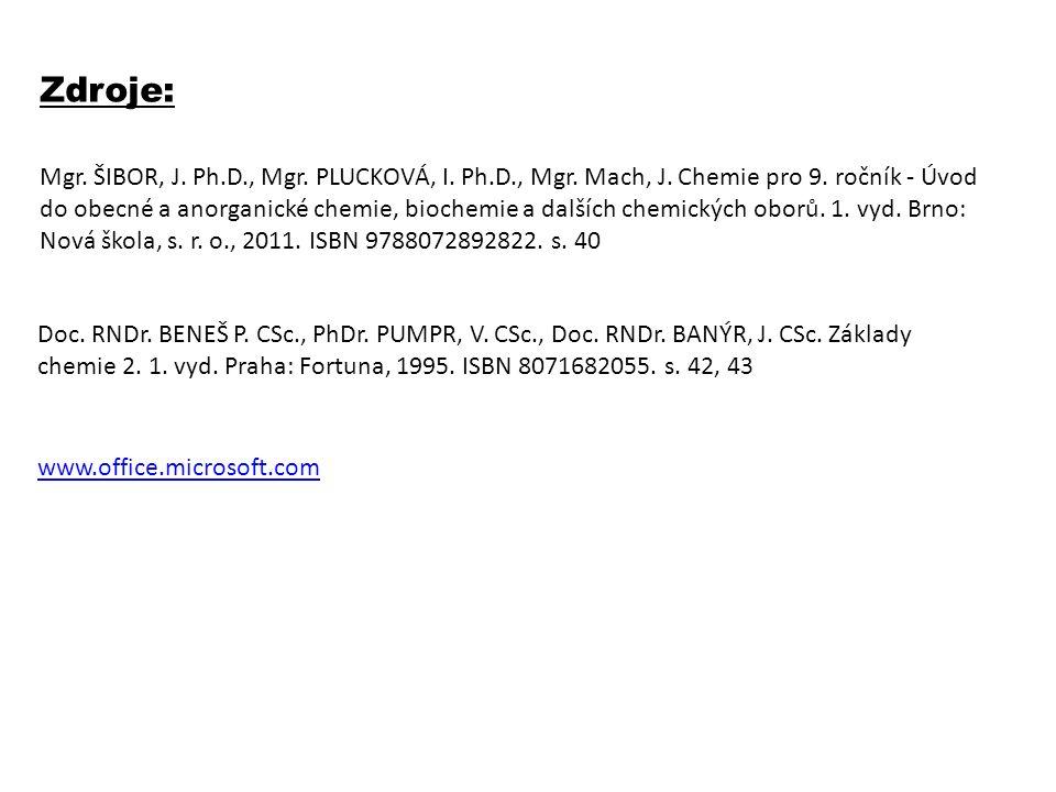 Zdroje: Mgr. ŠIBOR, J. Ph.D., Mgr. PLUCKOVÁ, I.