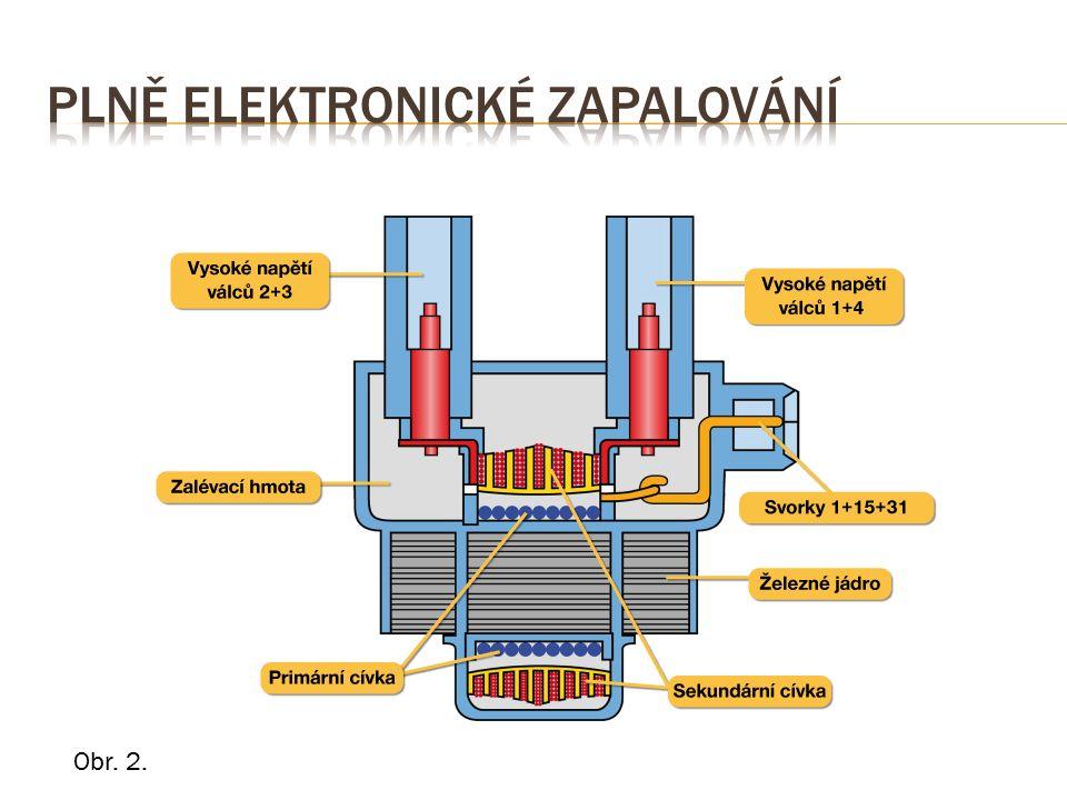2.Dvou jiskrovou cívkou bez VN kabelů − princip jako u 1.