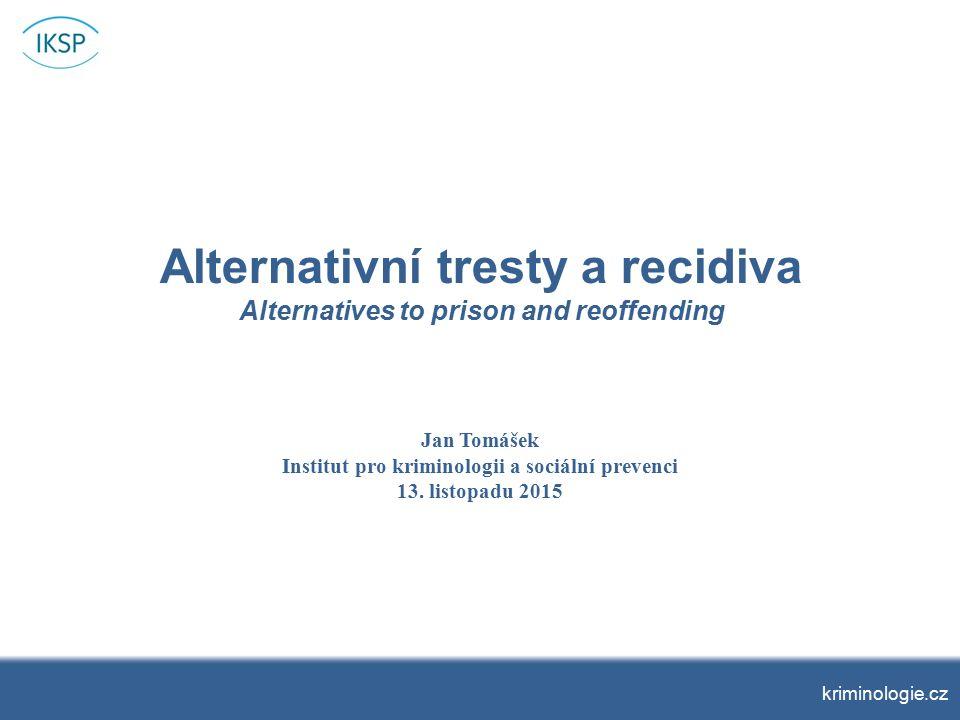 Předchozí trestná činnost Pro 88 % vzorku nebyla uložená sankce prvním trestem.