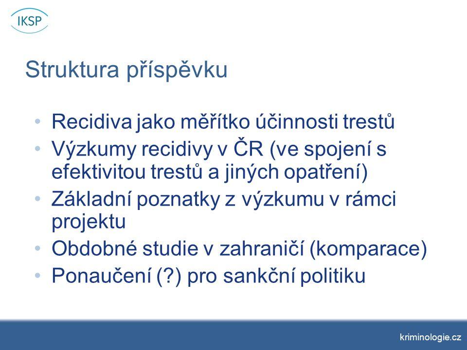 Recidiva a věk prvního odsouzení kriminologie.cz