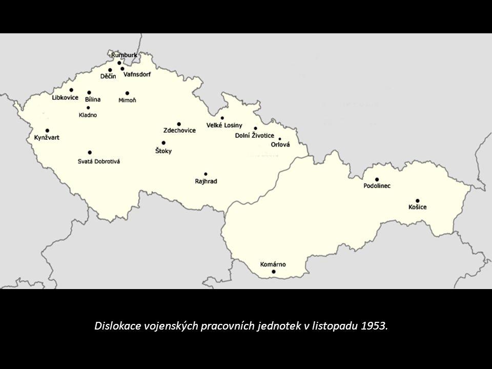 Dislokace vojenských pracovních jednotek v listopadu 1953.