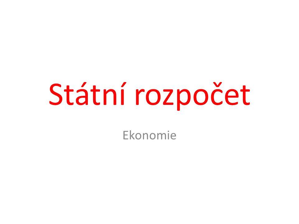 Státní rozpočet Ekonomie