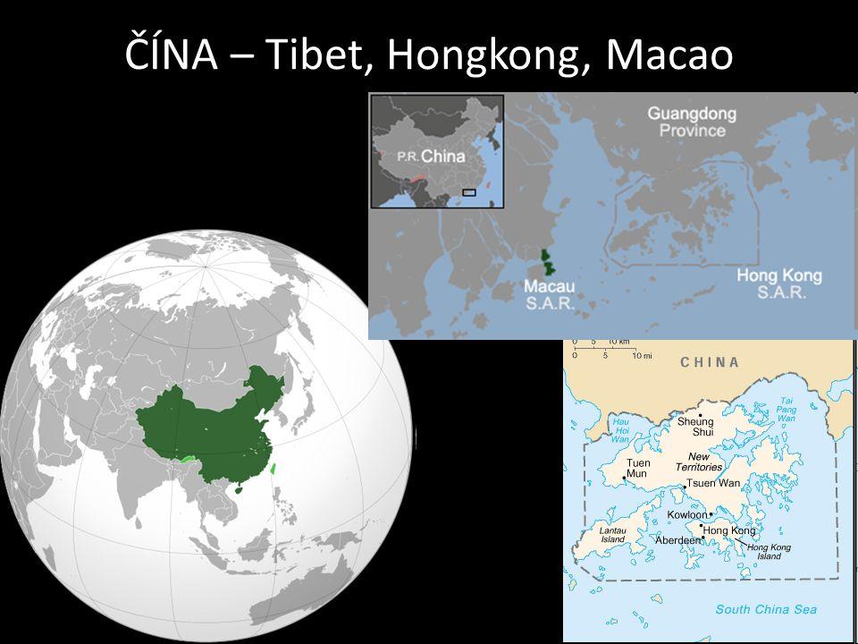 ČÍNA – Tibet, Hongkong, Macao