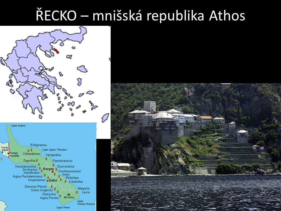 ŘECKO – mnišská republika Athos