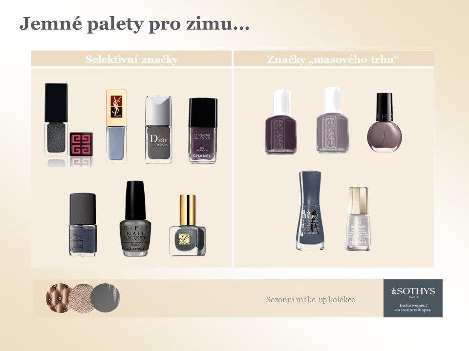 """Selektivní značkyZnačky """"masového trhu Jemné palety pro zimu... Sezonní make-up kolekce"""