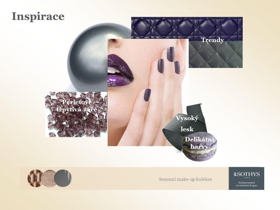 Inspirace Trendy Delikátní barvy Perleťově třpytivá záře Vysoký lesk Sezonní make-up kolekce
