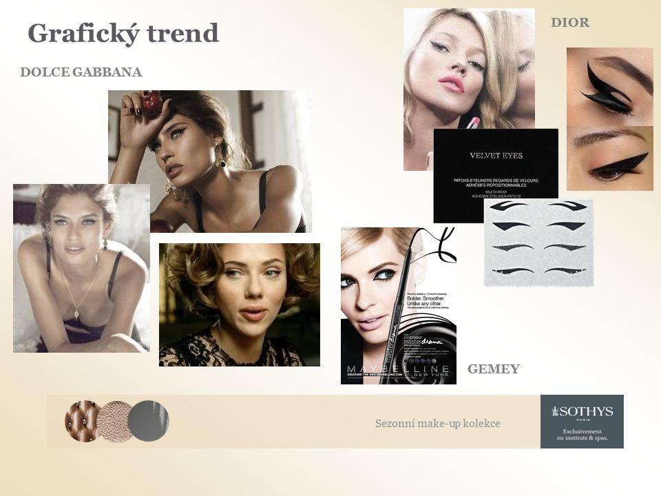 Grafický trend DIOR DOLCE GABBANA GEMEY Sezonní make-up kolekce
