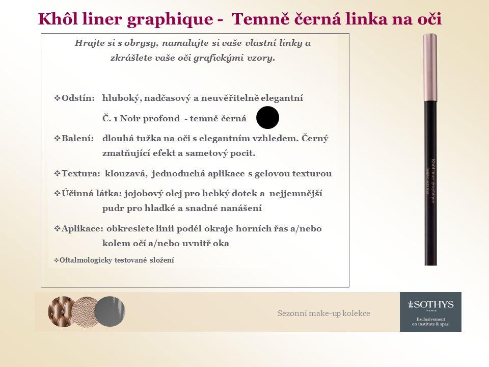 Khôl liner graphique - Temně černá linka na oči Hrajte si s obrysy, namalujte si vaše vlastní linky a zkrášlete vaše oči grafickými vzory.