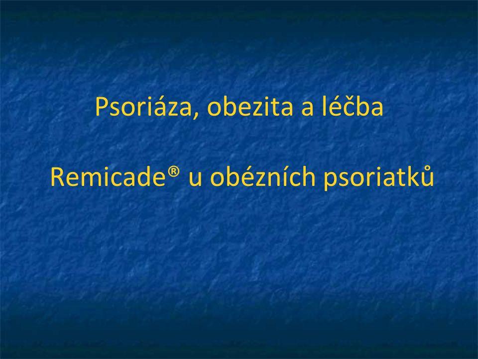 Remicade® účinnost u dalších typů psoriázy psoriatická onychopathie erytrodermie pustulózní psoriáza přítomnost komorbidit: PsA i axiální postižení jediné biologikum * PsA i entezitida, daktylitida jediné biologikum * Zattra E, et al: Erythroderma in the era of biological therapies.