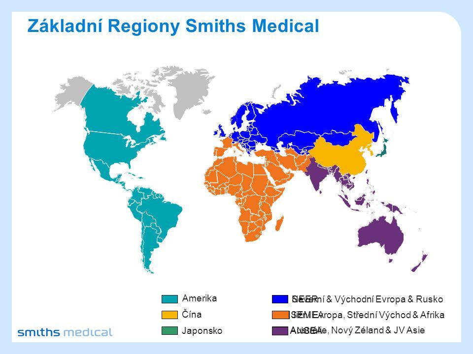 Základní Regiony Smiths Medical Amerika Severní & Východní Evropa & Rusko Čína Jižní Evropa, Střední Východ & Afrika Japonsko Austrálie, Nový Zéland & JV Asie NEER SEMEA ANSEA