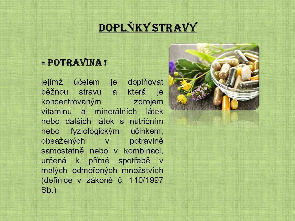 DOPL Ň KY STRAVY = potravina .