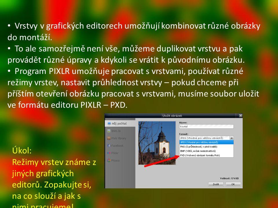Vrstvy v grafických editorech umožňují kombinovat různé obrázky do montáží.
