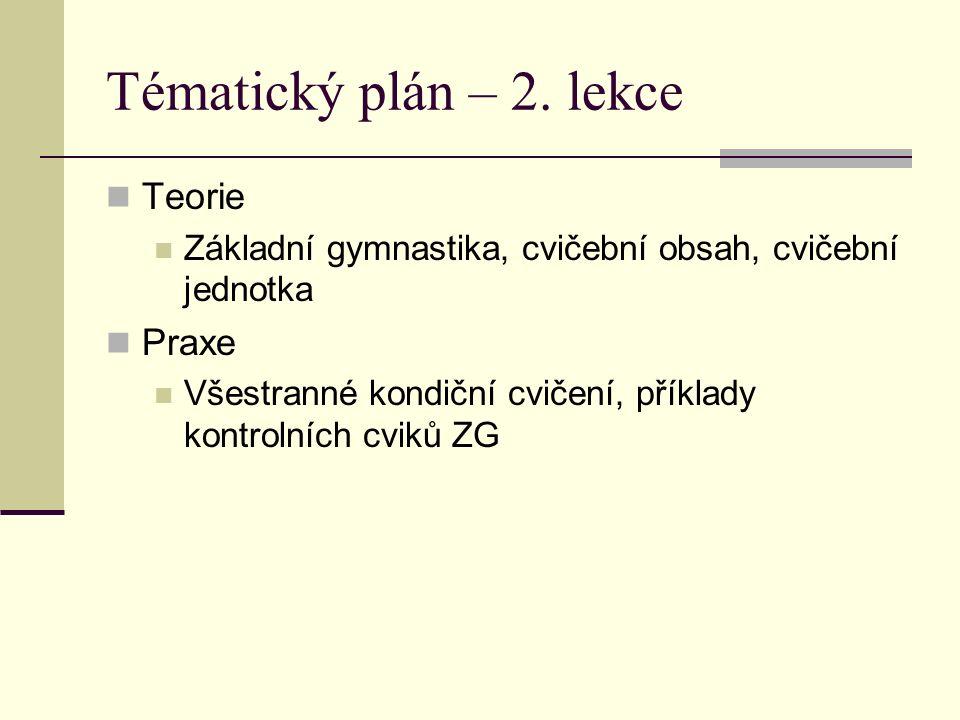 Tématický plán – 2.