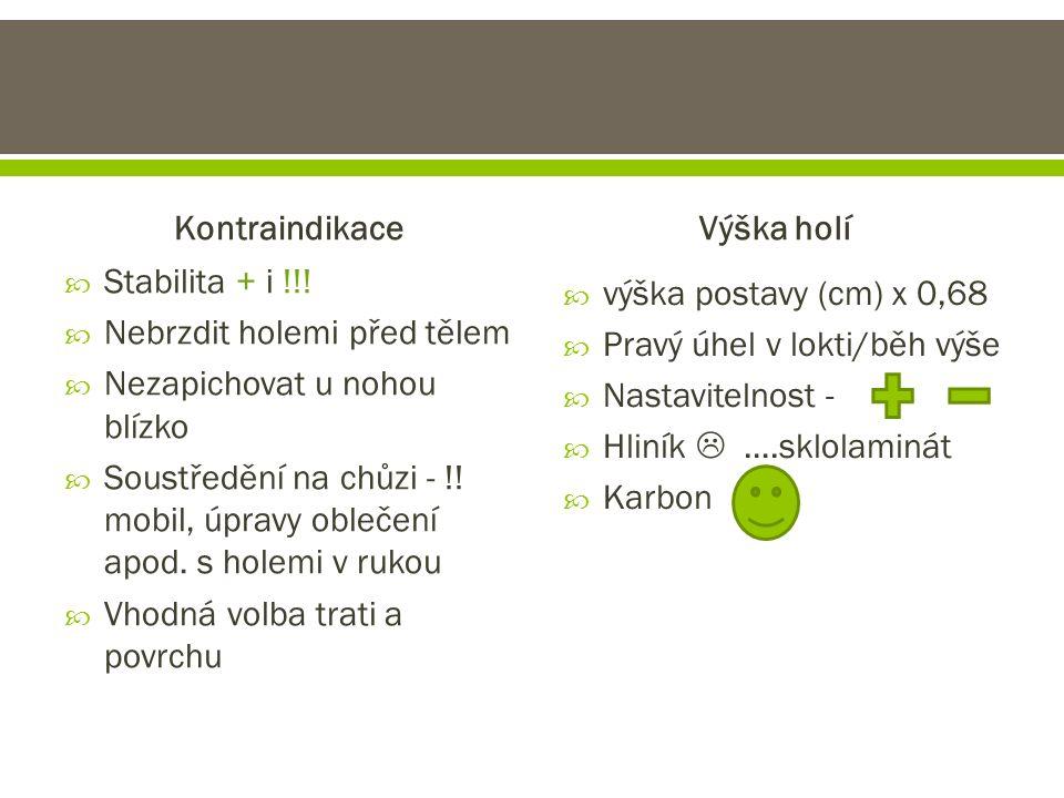 Kontraindikace  Stabilita + i !!.
