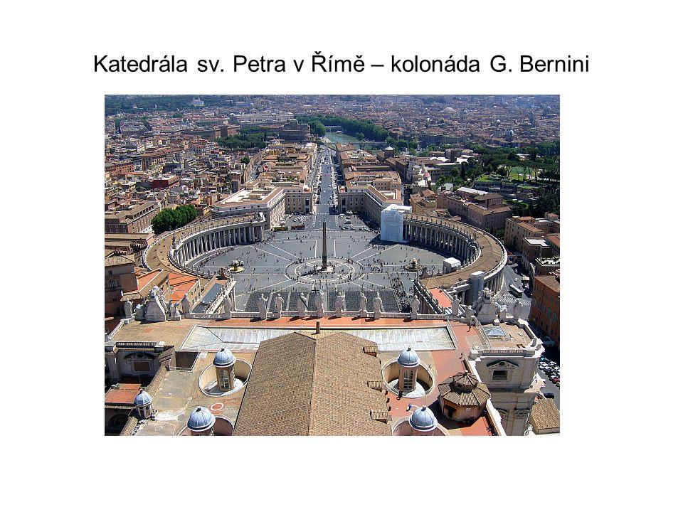 Katedrála sv. Petra v Římě – kolonáda G. Bernini