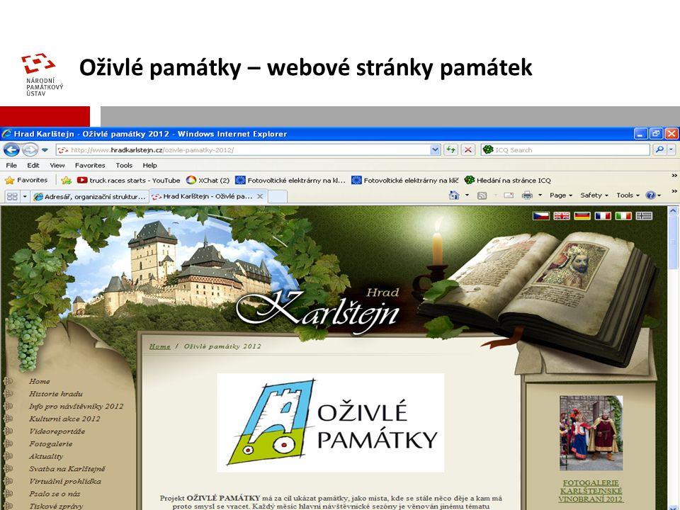 Oživlé památky – webové stránky památek