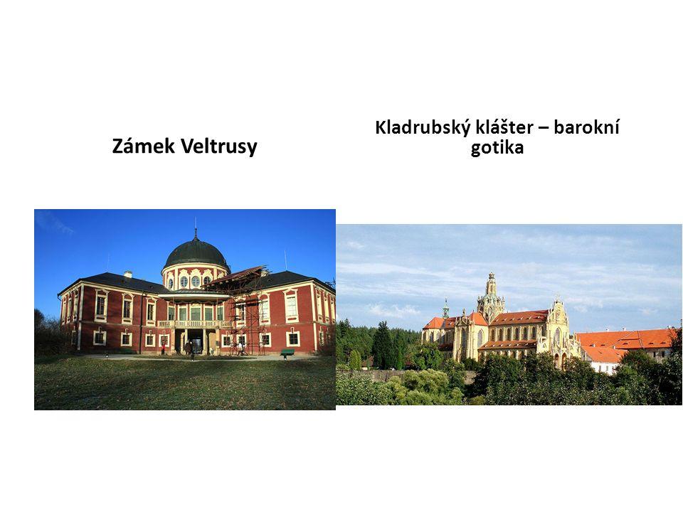 Zámek Veltrusy Kladrubský klášter – barokní gotika